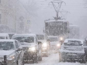 ВМоскве ожидается снегопад икрупные заторы