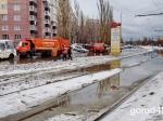 Утренний потоп парализовал работу городского транспорта