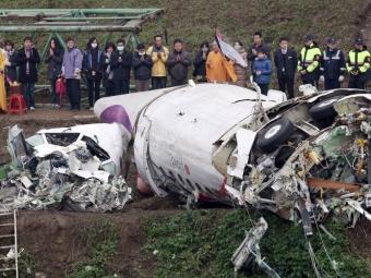 Разбившемуся вТайбэе самолету ранее меняли двигатель