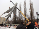 ВКалининграде спостамента сняли самолет МИГ