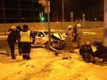 Врезультате лобового столкновения Lada Granta итакси госпитализировано два человека
