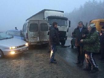 Около 30 автомобилей столкнулись вподмосковном Жуковском