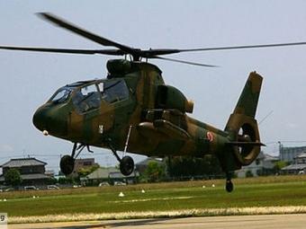 Вертолет японских сил самообороны совершил жесткую посадку наводу, пострадавших нет