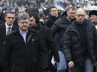 Участники церемонии поминовения погибших вовремя «майдана» освистали Петра Порошенко