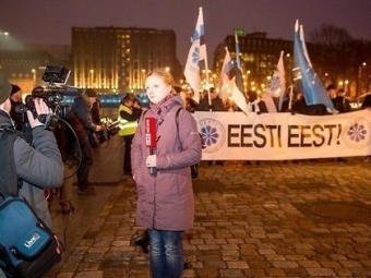 ВЭстонии прошел факельный марш националистов