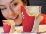 ВKFC появились съедобные стаканы для кофе