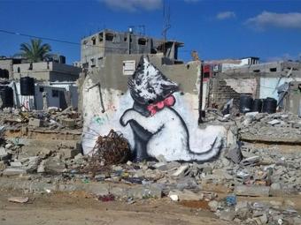 Бэнкси нарисовал несколько граффити всекторе Газа