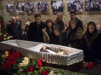 ВМоскве завершилась гражданская панихида поНемцову