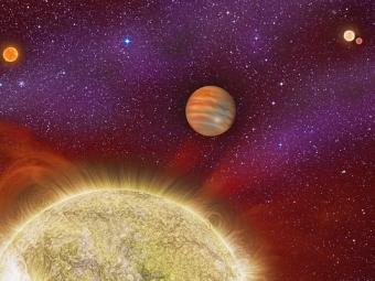 Учеными найдена планета, над которой восходит четыре «солнца»