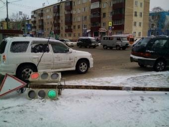 Сахалин после циклона: Обесточенные дома, поврежденые светофоры, снежная «каша» надорогах