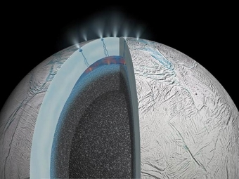 НаЭнцеладе обнаружены гейзеры, под слоем льда есть океан— Космос