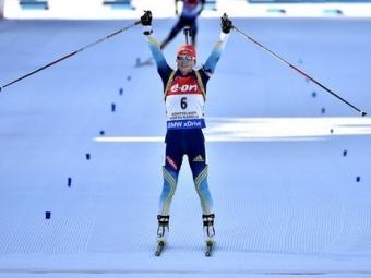 Украинка взяла золото чемпионата мира побиатлону