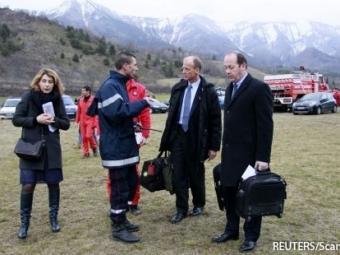 Олланд иМеркель вместе отправятся кместу катастрофы А320