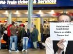Ураганный ветер парализовал работу аэропорта Амстердама
