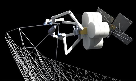 Плести космические конструкции наорбите Земли будут роботы-пауки