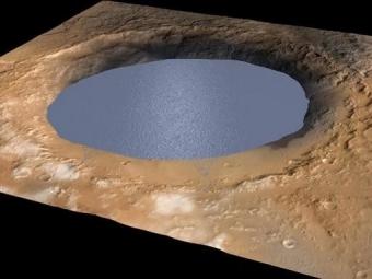 Учёные: наМарсе существует жидкая соленая вода