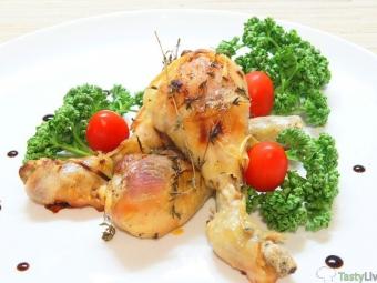 Куриные голени в пикантном маринаде, запеченные в духовке
