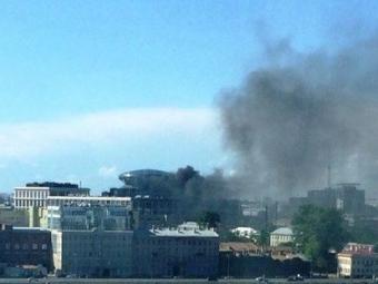 ВПетербурге горит бизнес-центр «Невская ратуша»