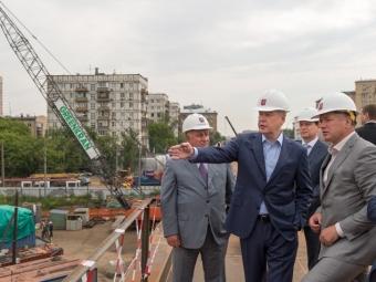 Собянин заявил, что Волоколамский путепровод откроется осенью