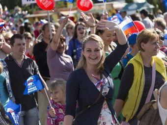 Торжественное шествие провели истринцы в честь Дня города и Дня России