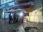 Саакашвили пригласил всех начай вовзорванное кафе