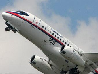"""SSJ-100 """"Аэрофлота"""" выполнил первый международный рейс"""