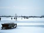 В Архангельске открыли ледовую пешую переправу на остров Бревенник