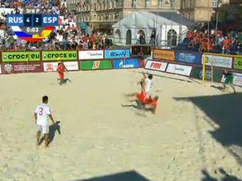 Россия обыграла Испанию в Суперфинале Евролиги пляжного футбола