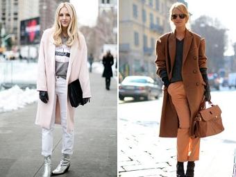 Осень с модным пальто