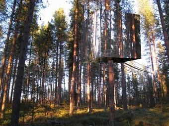В Швеции построен отель с невидимой комнатой