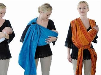 Мода на слинг-шарфы для молодых мам