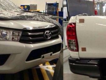 ВСети появились шпионские фотографии нового пикапа Toyota Hilux