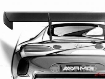 Появились первые официальные эскизы гоночного купе Mercedes-AMG GT3