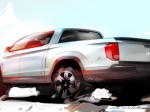 Honda опубликовала рисунок пикапа Ridgeline нового поколения