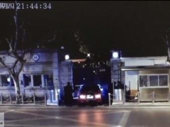 ВШанхае китаец врезался наавтомобиле вконсульство США