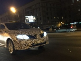 ВМоскве был замечен новый Nissan Tiida
