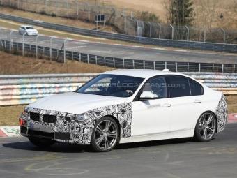 Фотошпионам впервые удалось заснять гибридную версию обновленного BMW 3-Series