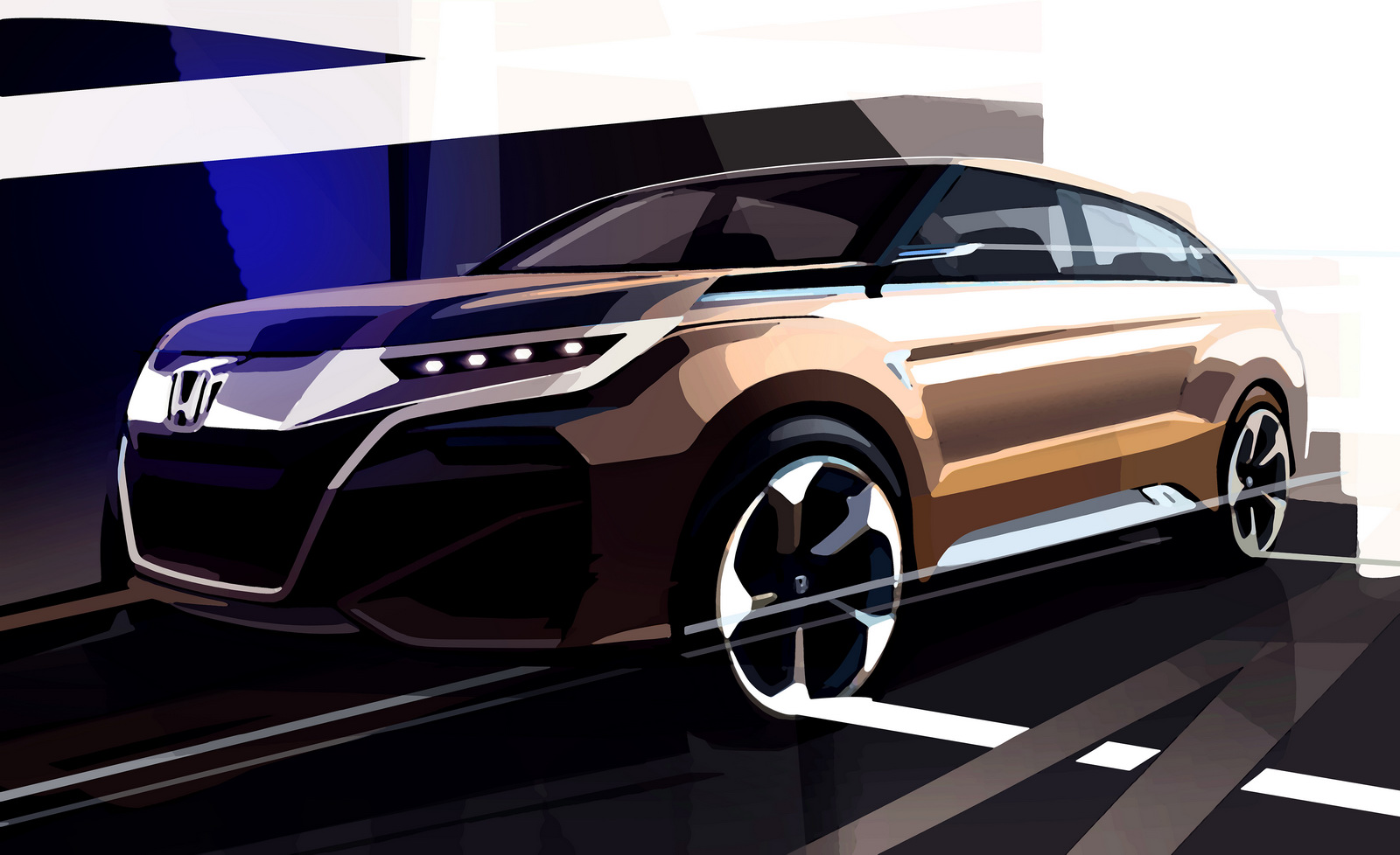 Honda показала тизер нового компактного внедорожника