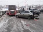 Намосту столкнулись восемь легковушек иавтобус— Воронеж