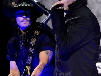 Джонни Депп иМэрилин Мэнсон выступили наодной сцене