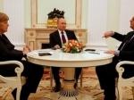 Олланд иМеркель получили предложения Путина поурегулированию конфликта наДонбассе— Керри