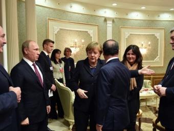 Лидеры стран «нормандской четверки» сфотографировались после переговоров