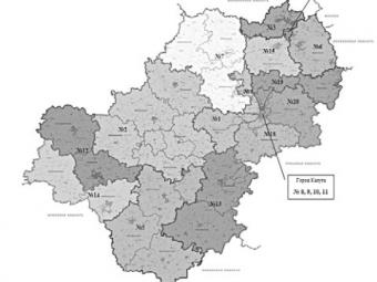 Утверждена схема одномандатных избирательных округов