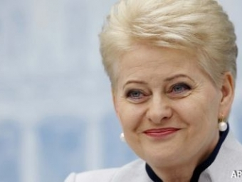 Президент Литвы по-русски поздравила жителей с25-летием независимости