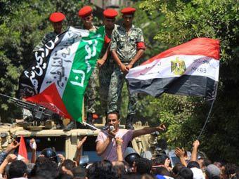 В Египте у посольства Израиля проходит акция протеста