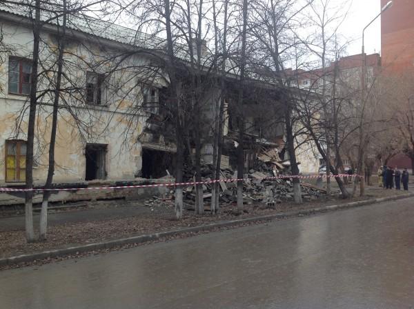 ВТюмени обрушилась стена жилого дома