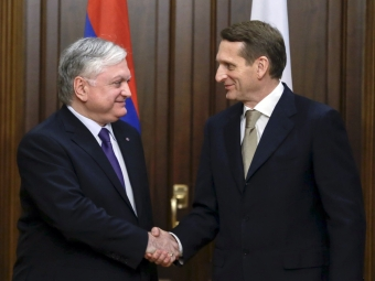 Нарышкин: присоединение Армении кЕАЭС расширит сотрудничество сРФ