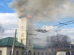 ВВологде горит здание пожарной каланчи наулице Чернышевского