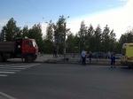 ВНевском районе женщина сребенком попали под колеса грузовика