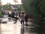 Нижневартовск затопило из-за резкого подъема уровня воды вреке Обь